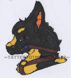 Dark Matter badge watermarked by TatterTotMinion