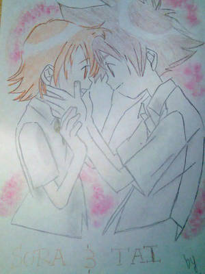 Tai and Sora love by clariitaa