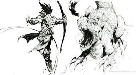 bow and arrow by nefar007