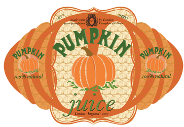 Pumpkin Juice Label by credechica4