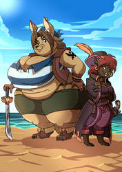 captain diaz and first mate allie by credechica4