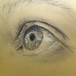 Eye sketch #1 by persicking