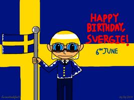 Happy birthday, Sweden (Hetalia) by lucianintendofan97