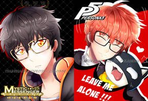 Mystic Messenger x Persona 5 by TrainerAshandRed35