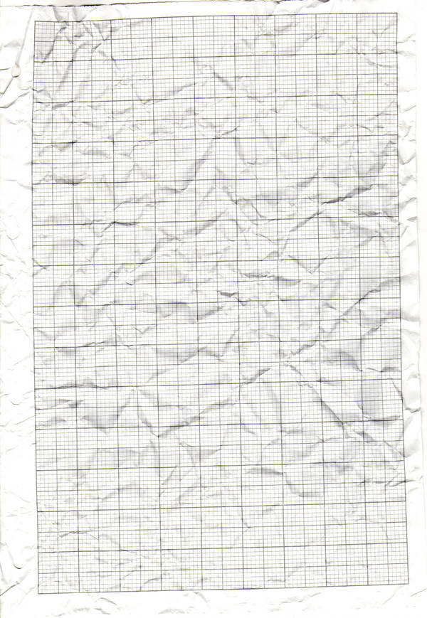 Crumpled Graph paper texture by madragonn