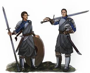Kaedah and Caelan by akitku