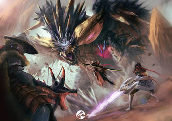 MONSTER HUNTER WORLD by fate-fiction