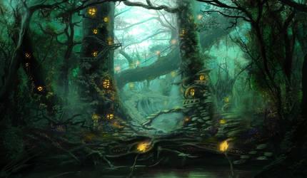Forest Village by NikosLefas