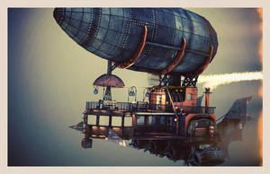 Steampunk Airship 2 by shaddam89