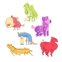 6 Horses by MumblingIdiot