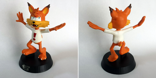 3d printed bubsy by babbybones