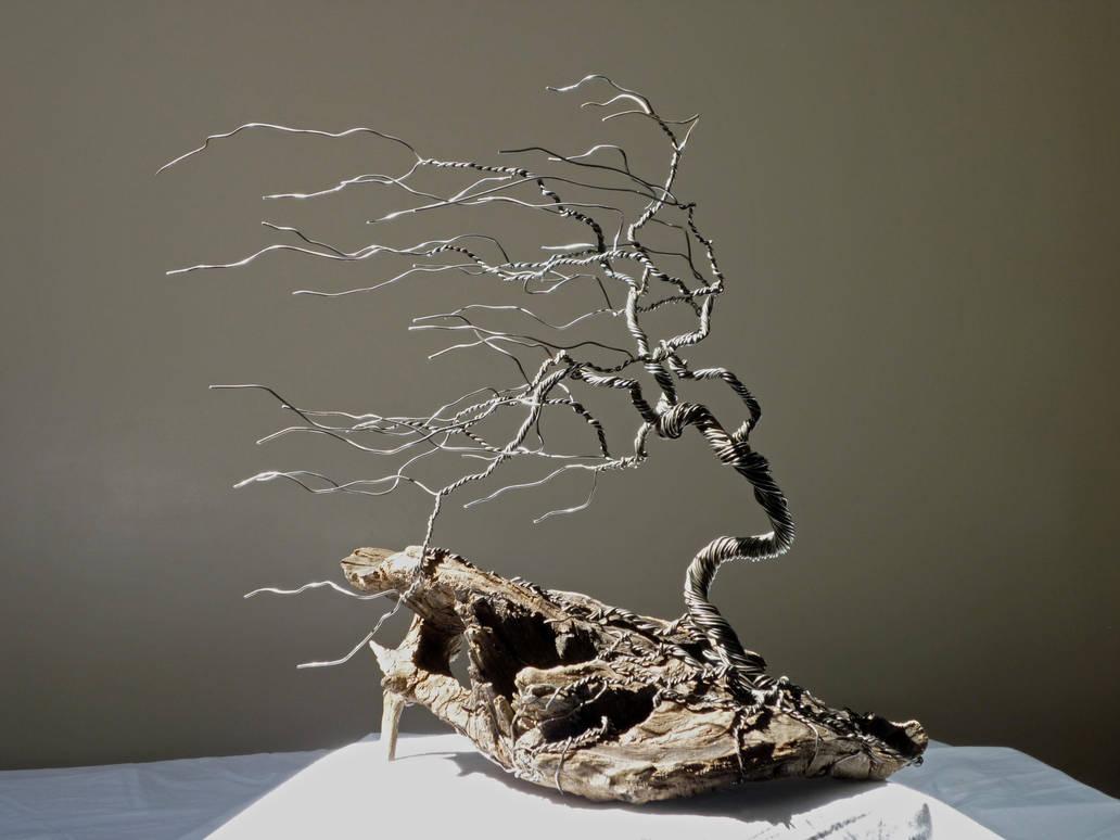 Dad's Wire Tree 1-1 by BlackHoleInAJar