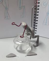 Sphinks Sculpture WIP 02 Fleshing Out by BlackHoleInAJar
