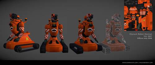 Elysium Robot- Hazmat by GemmaSuen