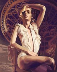 Andrej Pejic Colour Study by GemmaSuen