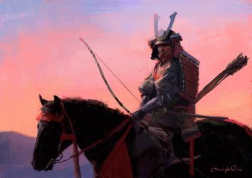 Samurai-sketch by JosephQiuArt