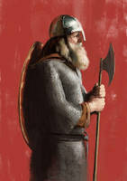 Viking-sketch by JosephQiuArt