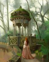 Pavilion scene sketch by JosephQiuArt