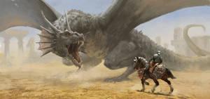 Dragon Hunter by JosephQiuArt