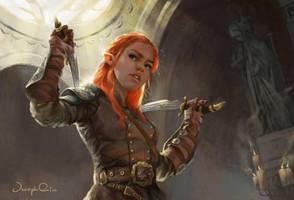 Double Dagger Elf by JosephQiuArt