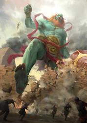 Green Titan by JosephQiuArt