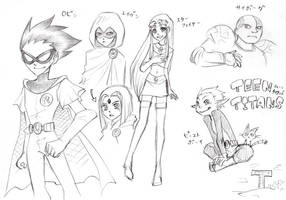 My Old Art: TeenTitans by seiya712