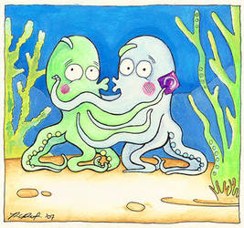 Octopi are Twee - Get a room by Ravenari