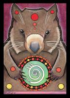 Wombat Totem by Ravenari