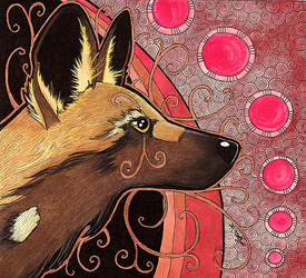 African Painted Dog as Totem by Ravenari