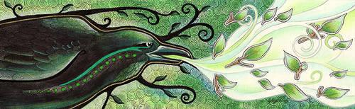 The Green Raven by Ravenari