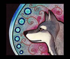 Gray Wolf 01 as Totem by Ravenari