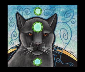 Black Jaguar as Totem by Ravenari