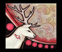 White Stag as Totem by Ravenari