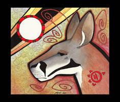 Red Kangaroo as Totem 03 by Ravenari