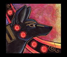 Anubis - Jackal as Totem by Ravenari