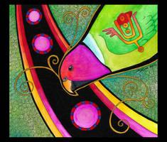 Plum Headed Parakeet as Totem by Ravenari