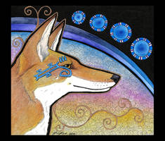 Wepwawet as Ethiopian Wolf by Ravenari