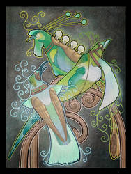 Ornamental Lighting - Green by Ravenari