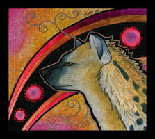 Spotted Hyena as Totem 02 by Ravenari