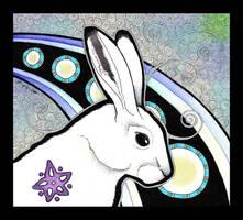 Arctic Hare as Totem by Ravenari