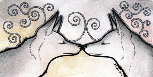 Silver Foxes by Ravenari