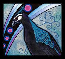 Palawan Peacock Pheasant Totem by Ravenari