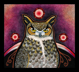 Great Horned Owl as Totem by Ravenari