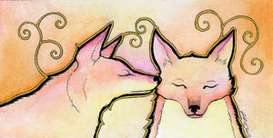 Sunrise Foxes - Mini by Ravenari