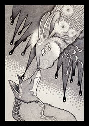 Night Rabbit and the Dream Fox by Ravenari