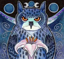 The Midnight Eagle Owl by Ravenari