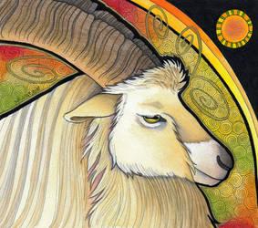 Bilberry Goat as Totem by Ravenari