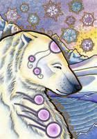 Serene Polar Bear by Ravenari