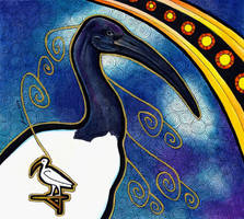 African Sacred Ibis as Totem by Ravenari