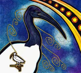 African Sacred Ibis as Totem by Ravenari